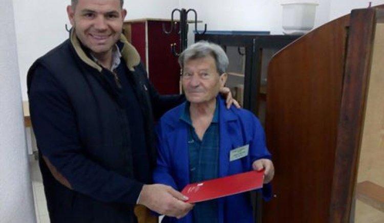 Председателят на ОбС на БСП - Габрово Здравко Кънчев поздрави пенсионерите за Международния ден на възрастните хора